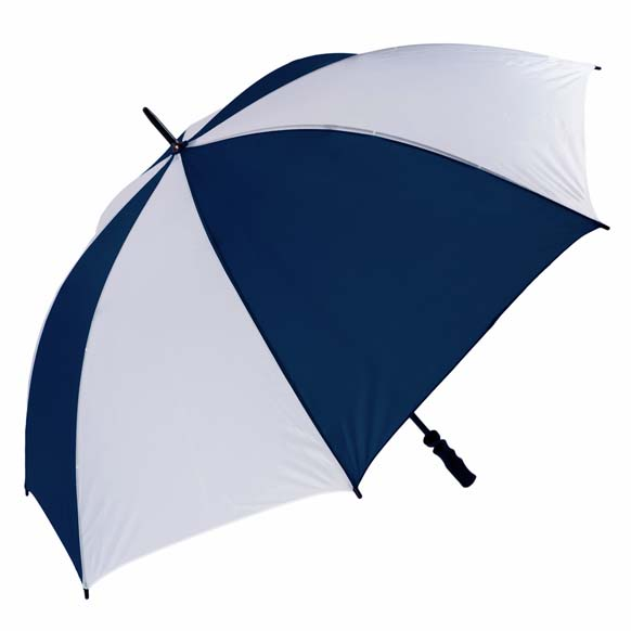 Wind Resistant Fibrelight Large Navy & White Golf Umbrella (3473)