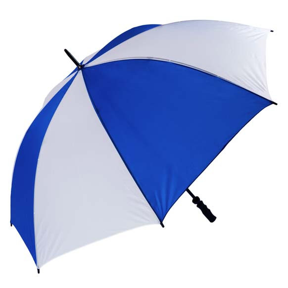 Royal Blue & White Golf Umbrella Wind Resistant Fibrelight (3473)