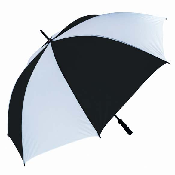 Wind Resistant Fibrelight Large Black & White Golf Umbrella (3473)