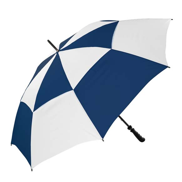 The Gibraltar Windproof Golf Umbrella - Navy & White (3475)