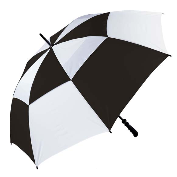Windproof Golf Umbrella - Black & White - The Gibraltar(3475)