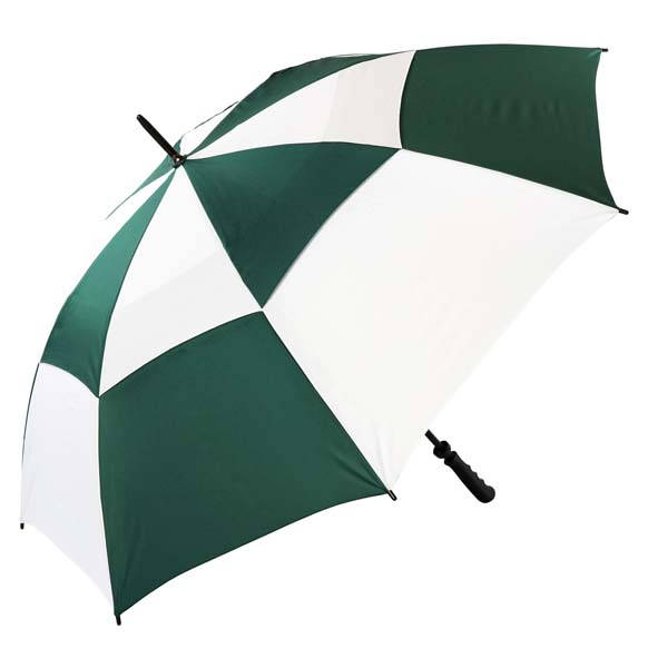 The Gibraltar Windproof Golf Umbrella - Green & White (3475)