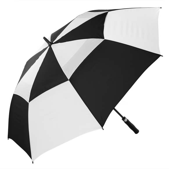 Premium Black and White FibreAuto Golf Umbrella (3477)