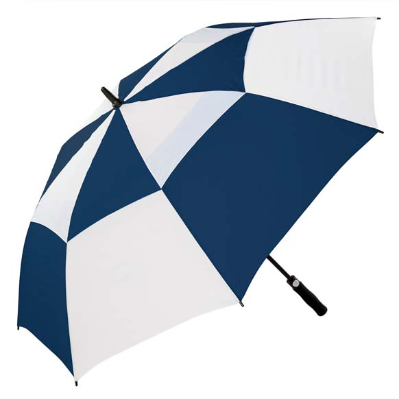 Premium Navy and White FibreAuto Golf Umbrella (3477)