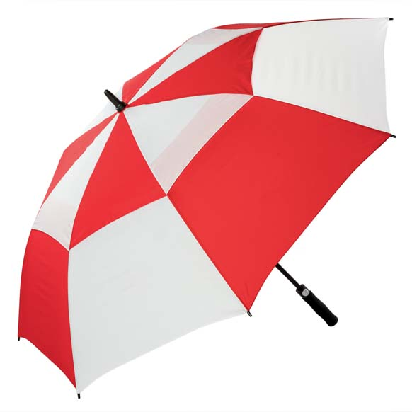 Premium Red and White FibreAuto Golf Umbrella (3477)