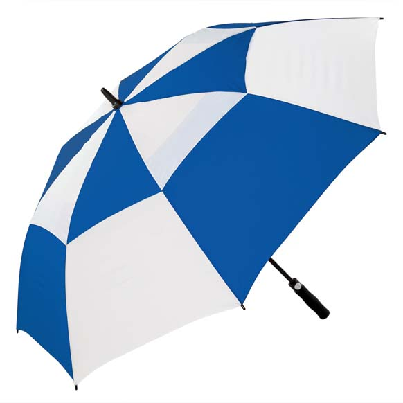 Premium Royal Blue and White FibreAuto Golf Umbrella (3477)