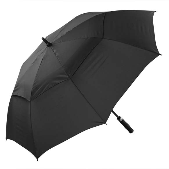 Premium Fibreglass Windproof Golf Umbrella Black Auto Open (3477P)