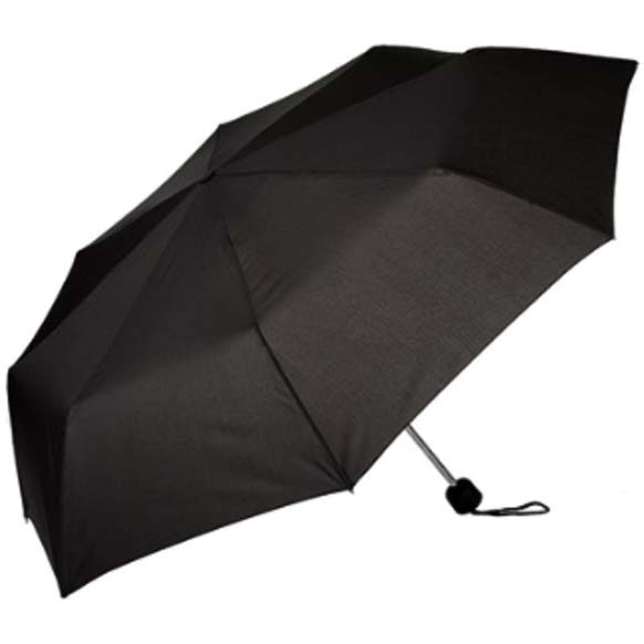Unisex Basic Black Compact Umbrella (3485B)