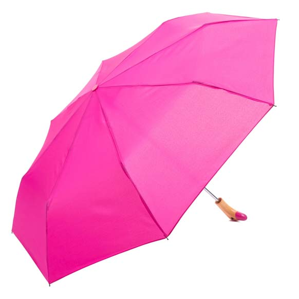 Pink Wooden Duck Head Handle Ladies Compact Umbrella (3488)