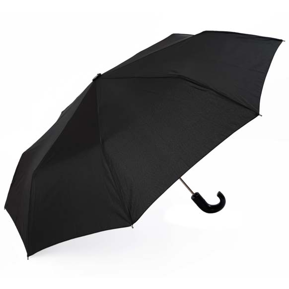 Lightweight Black Gentlemens Automatic Compact Umbrella (3958)