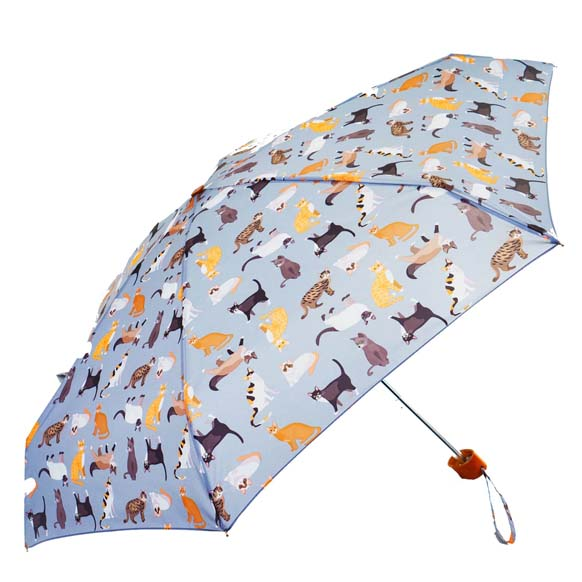 Cat Print Ladies Mini Compact Umbrella (51024)