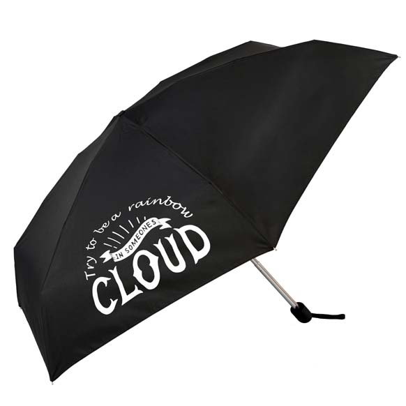 Try To Be A Rainbow In Someone Elses Cloud Slogan Compact Umbrella (51031)