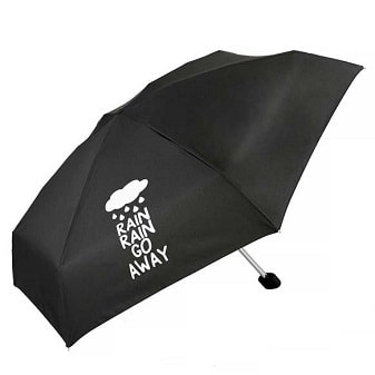 Click to view Rain Rain Go Away Slogan Compact Umbrella (51031)