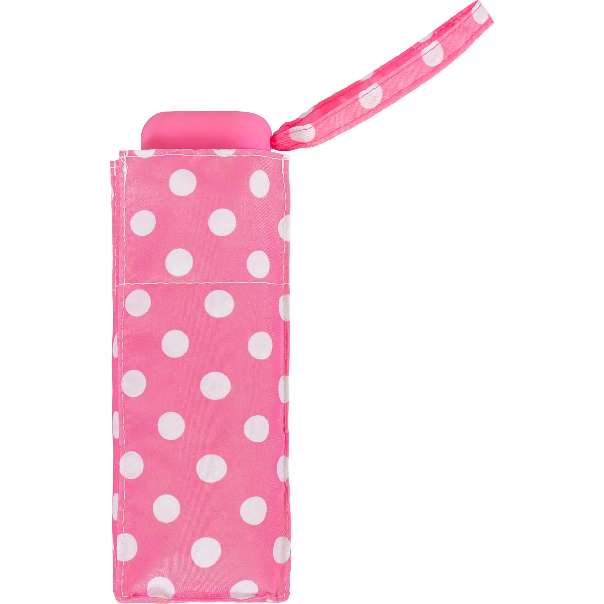 Pink Polka Dot Compact Umbrella (51033)