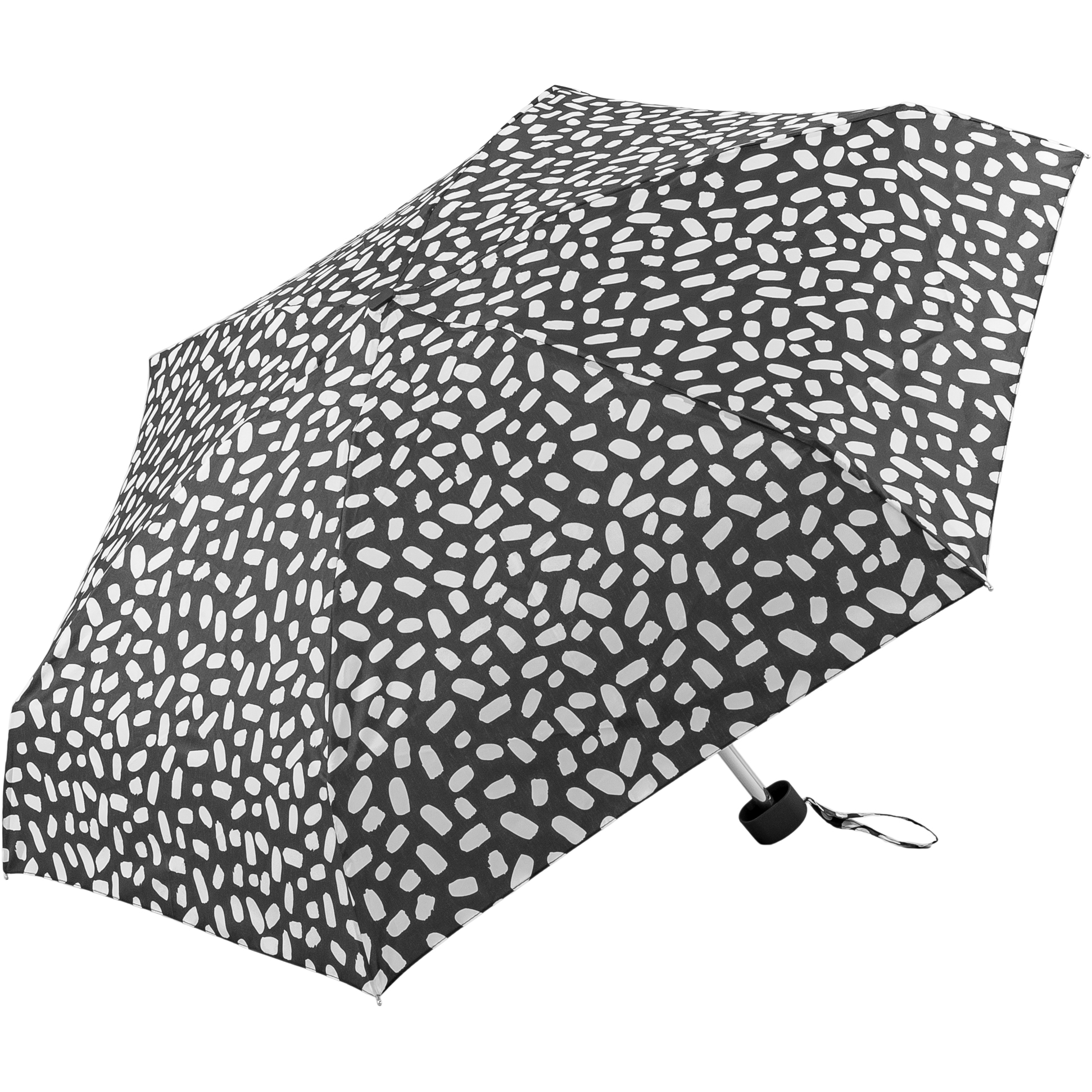 Black and white smudge supermini umbrella (51034-1)