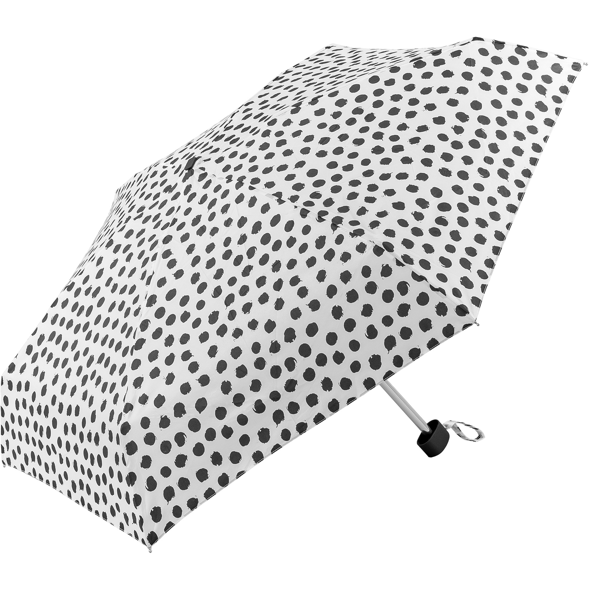 White with black spots super mini umbrella (51034W)