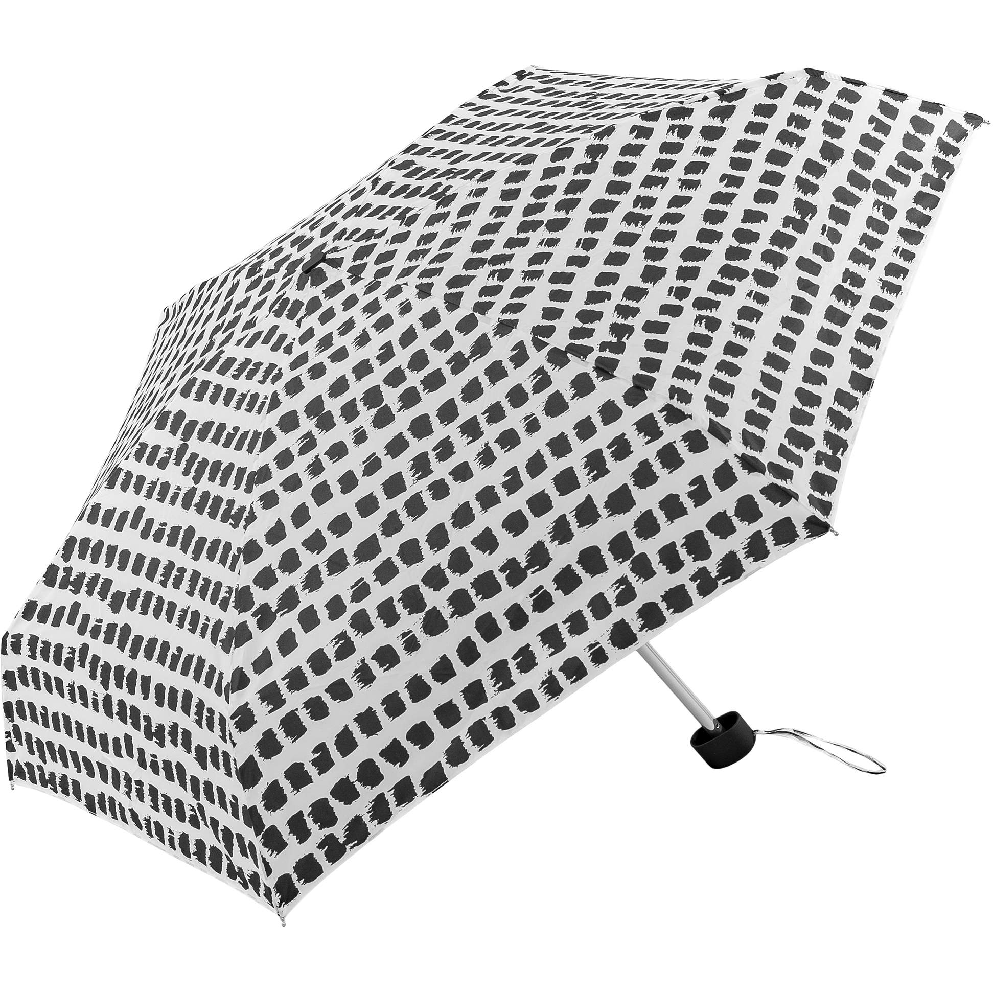 Super mini umbrella with black and white spots (51034-2)