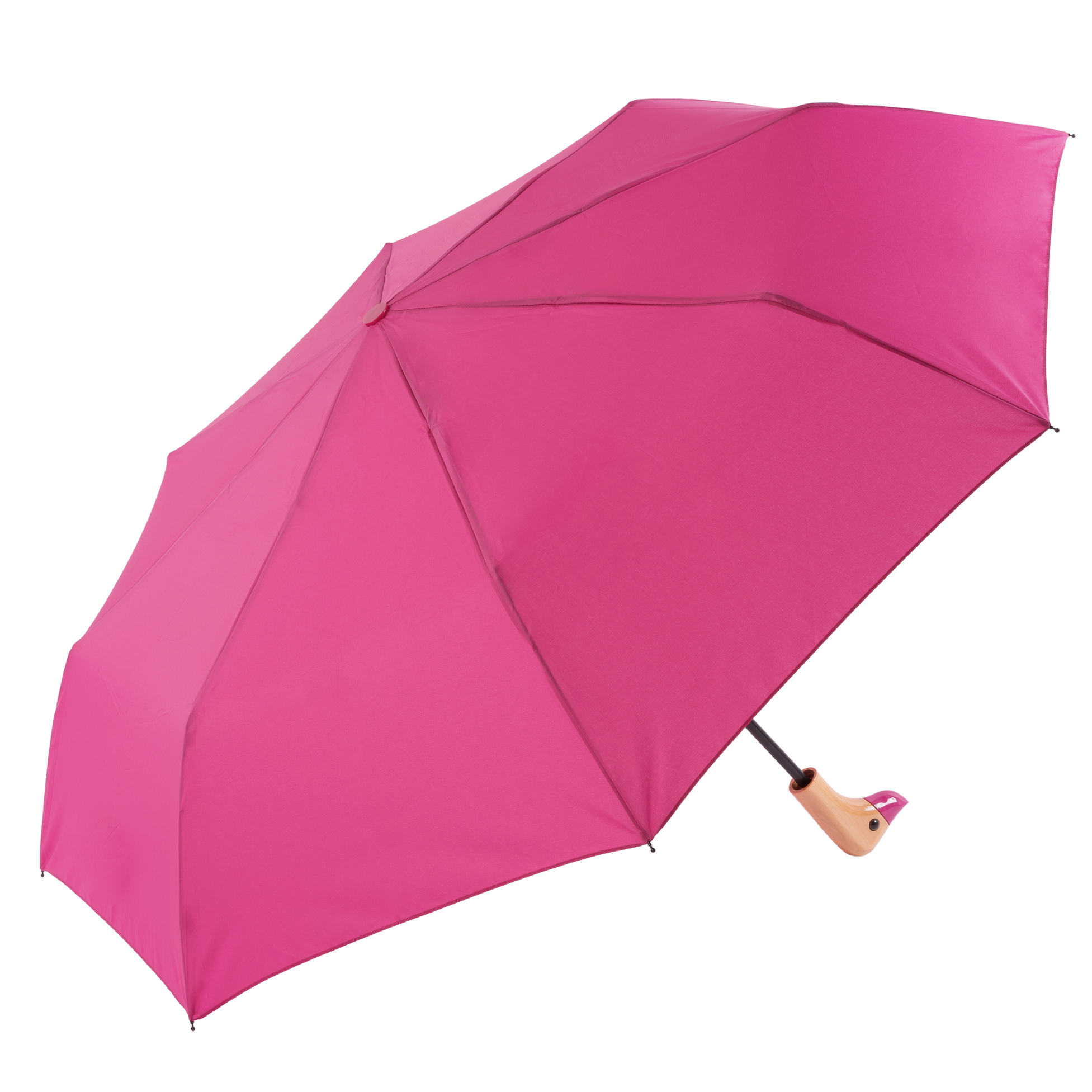 Pink Duck Head Handle Womens Compact Umbrella (31701)