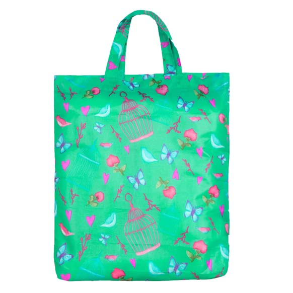 Vintage Birds & Butterflies Reusable Shopping Bag (CB007)