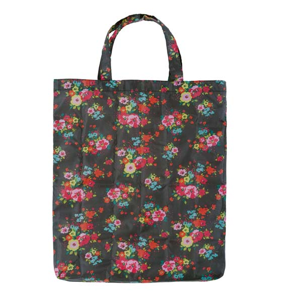 Colour In Floral Pink & Yellow Reusable Shopping Bag (CB009)