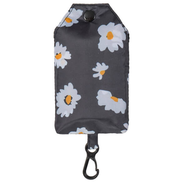 Daisy Flora Black Reusable Shopping Bag (CB011)