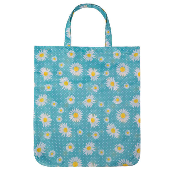 Daisy Flora Turquoise Reusable Shopping Bag (CB011)