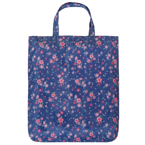 Navy Floral Reusable Shopping Bag (CB013)