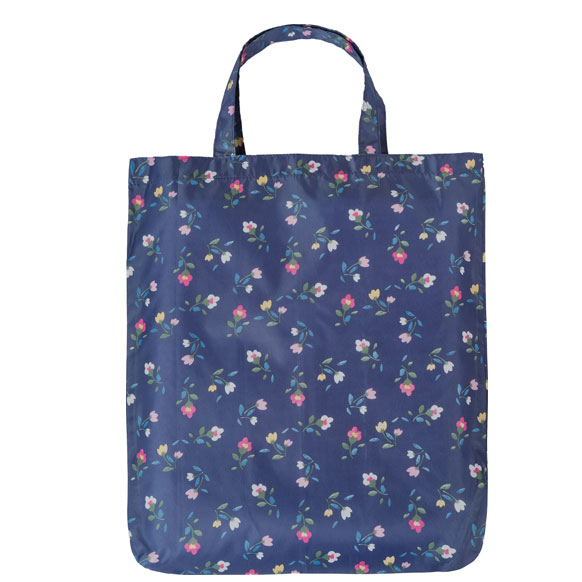 Navy Flower Reusable Shopping Bag (CB013)