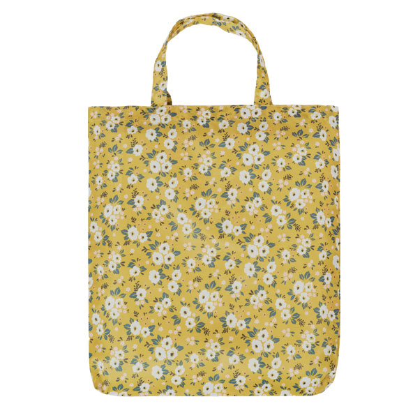 Yellow Floral Reusable Shopping Bag (CB013)