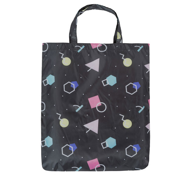 Retro Mix Black Reusable Shopping Bag (CB015)