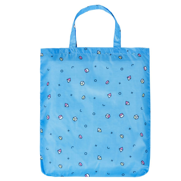 Retro Mix Light Blue Reusable Shopping Bag (CB015)