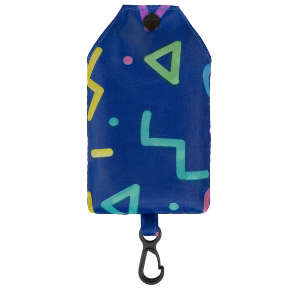Retro Mix Shapes Navy Reusable Shopping Bag (CB015)