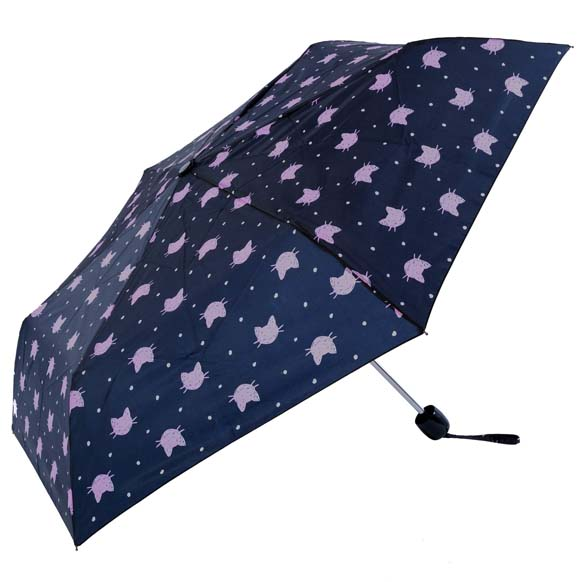 Colourful Creatures Cat Print Ladies Compact Umbrella (CS31089)