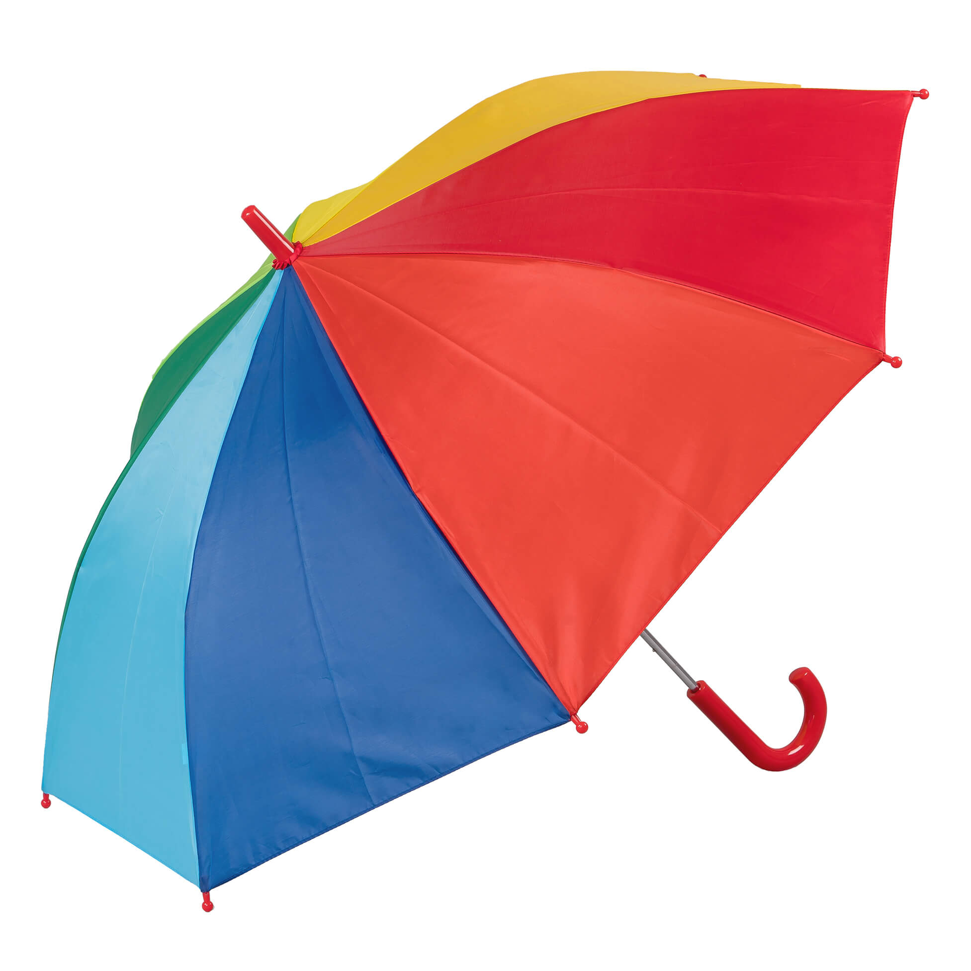 Childrens Rainbow Coloured Walking Umbrella (3497)