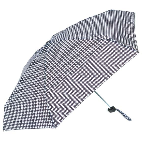 Monochrome Houndstooth Ladies Mini Compact Umbrella (51022)