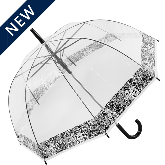 Snakeskin Border Dome Clear Umbrella (18012)