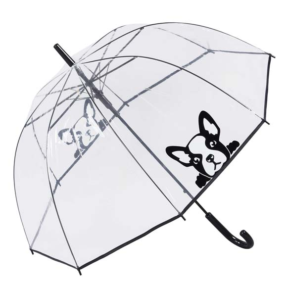 French Bulldog Clear See Through Dome Umbrella (17020)