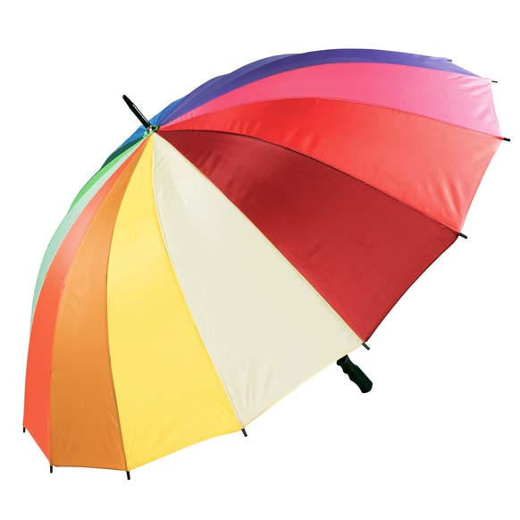 Large Rainbow Coloured Golf Umbrella (3572)