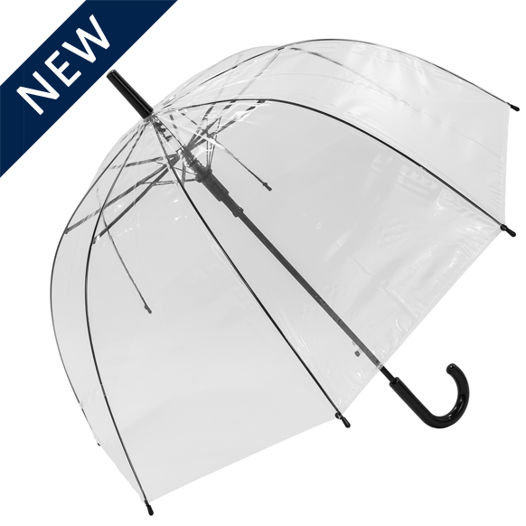 Clear Umbrella with Black Frame Auto Open (18018)