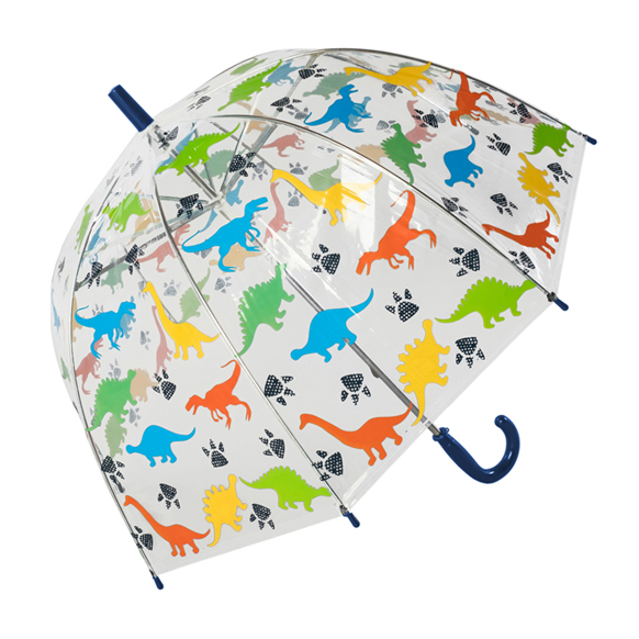 Children's Dinosaur Clear Dome Umbrella (17023)