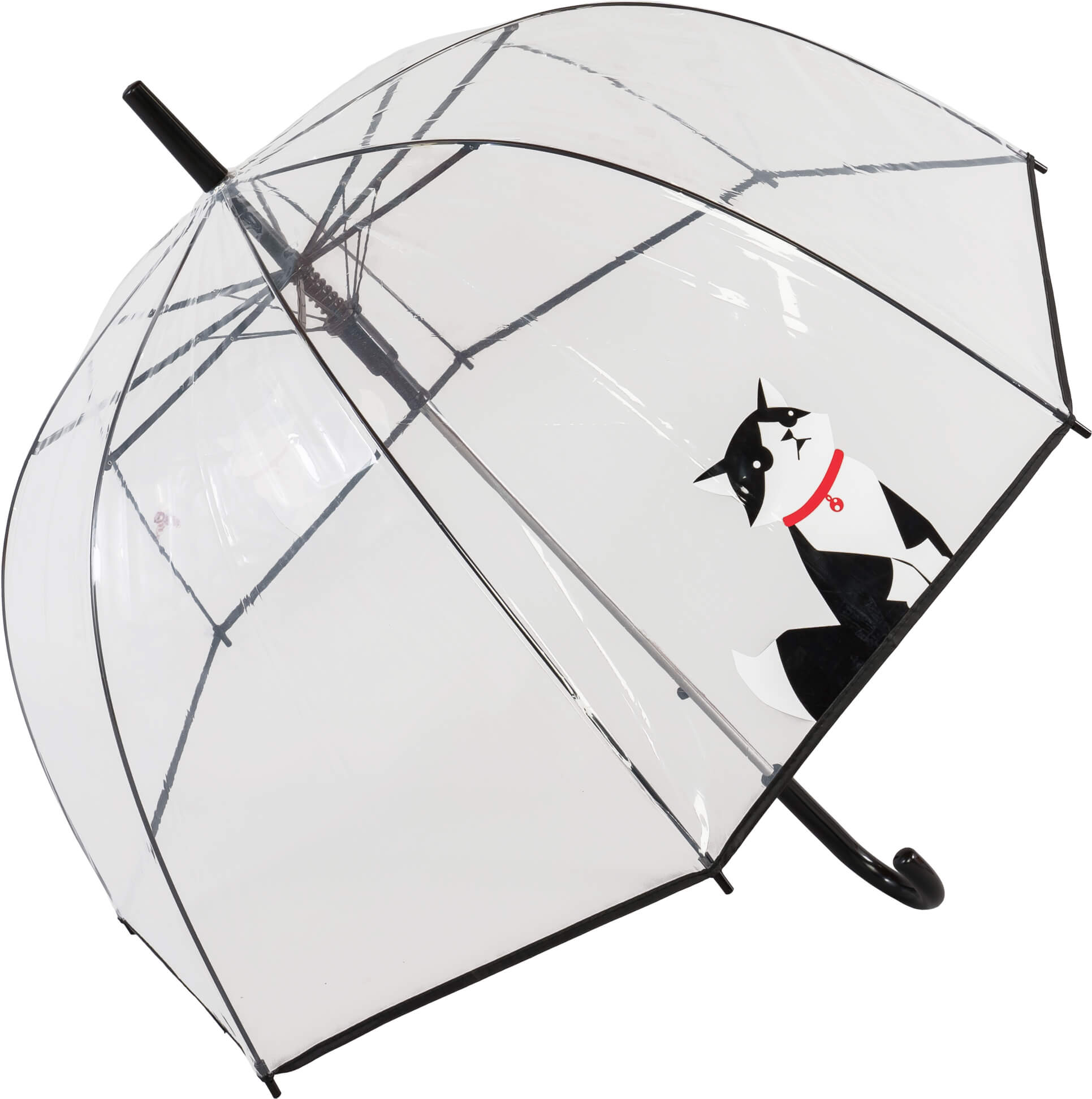 Auto Black Cat Clear Dome Umbrella (18016)