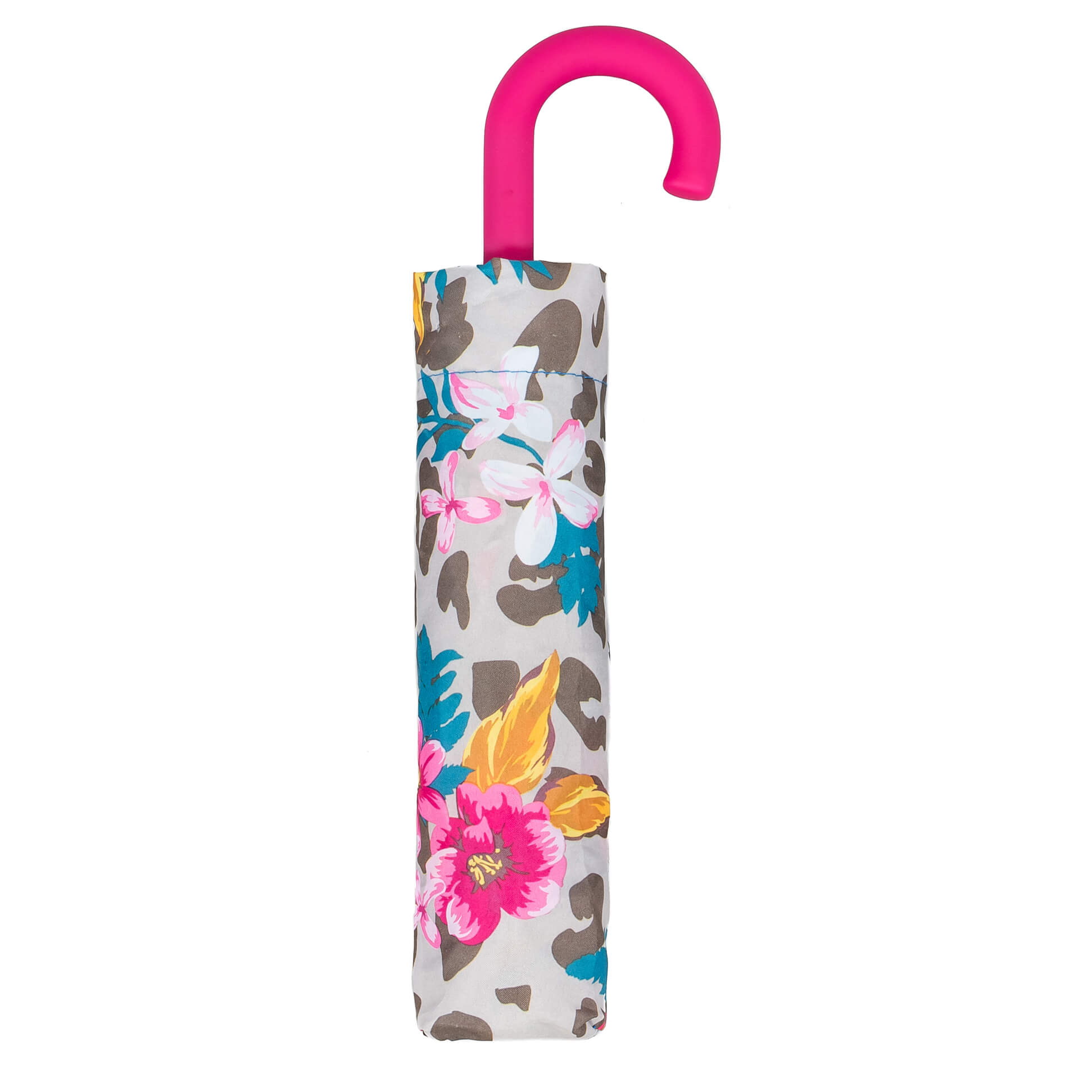 Floral Crook Pink Handle Umbrella (31904PI)