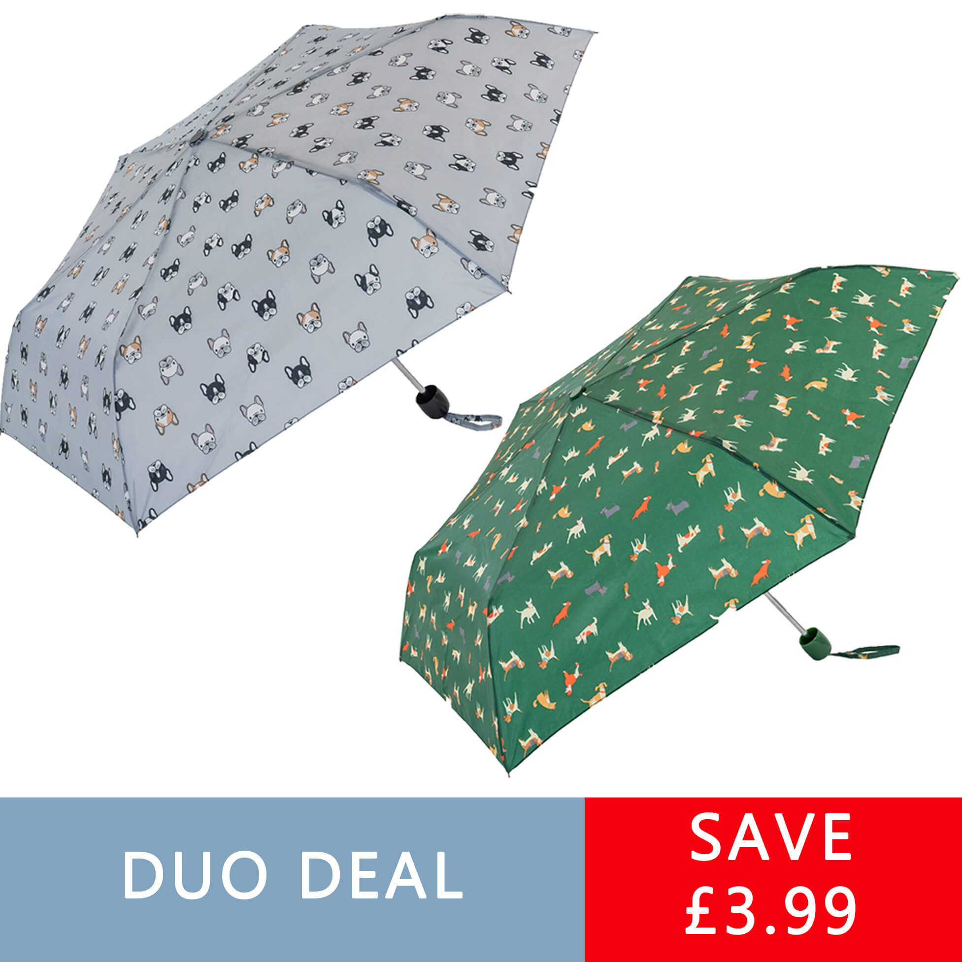 Dogs Compact Umbrella Duo (31104D)