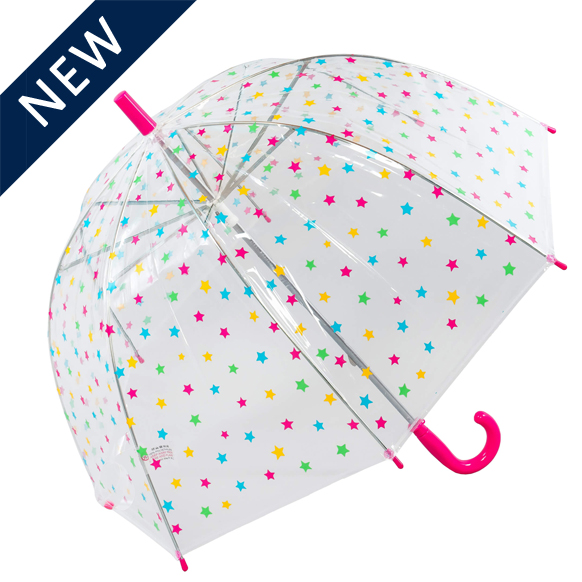 Click to view Kids Star Clear Umbrella (18011)
