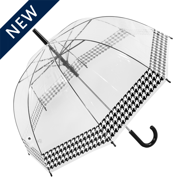 Dogtooth Border See Through Umbrella (18013R)