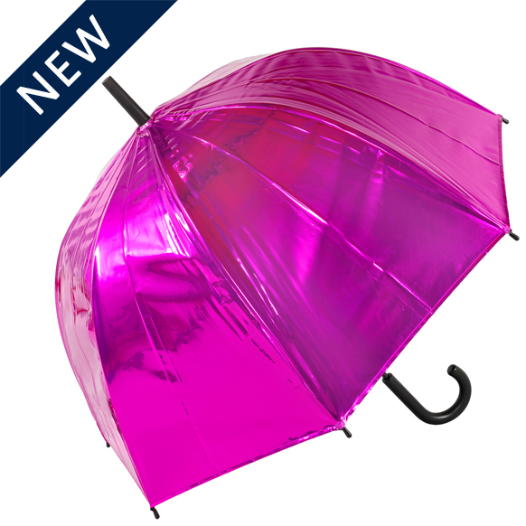 Pink Metallic Dome Umbrella (18021P)