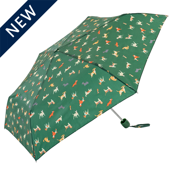 Countryside Dogs Green Compact Umbrella (31104)