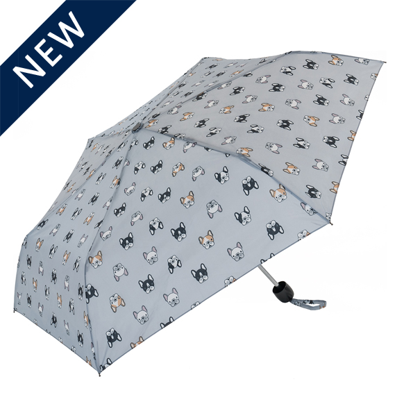 Grey Bulldog Compact Umbrella (31104G)