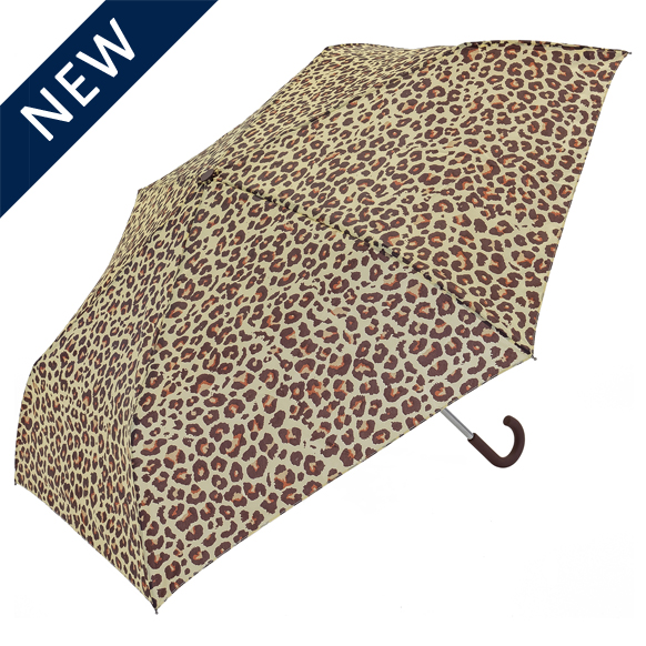 Leopard Crook Handle Umbrella (31906)