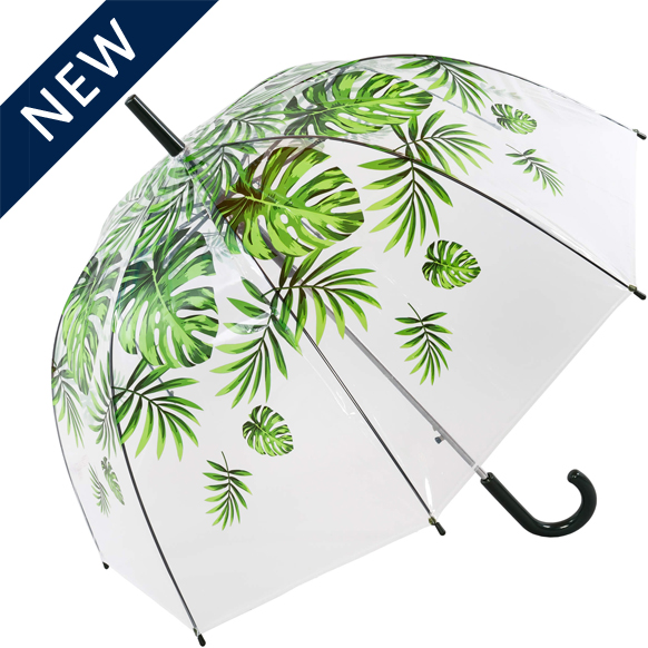 Palm Leaf Clear Umbrella (18015R)